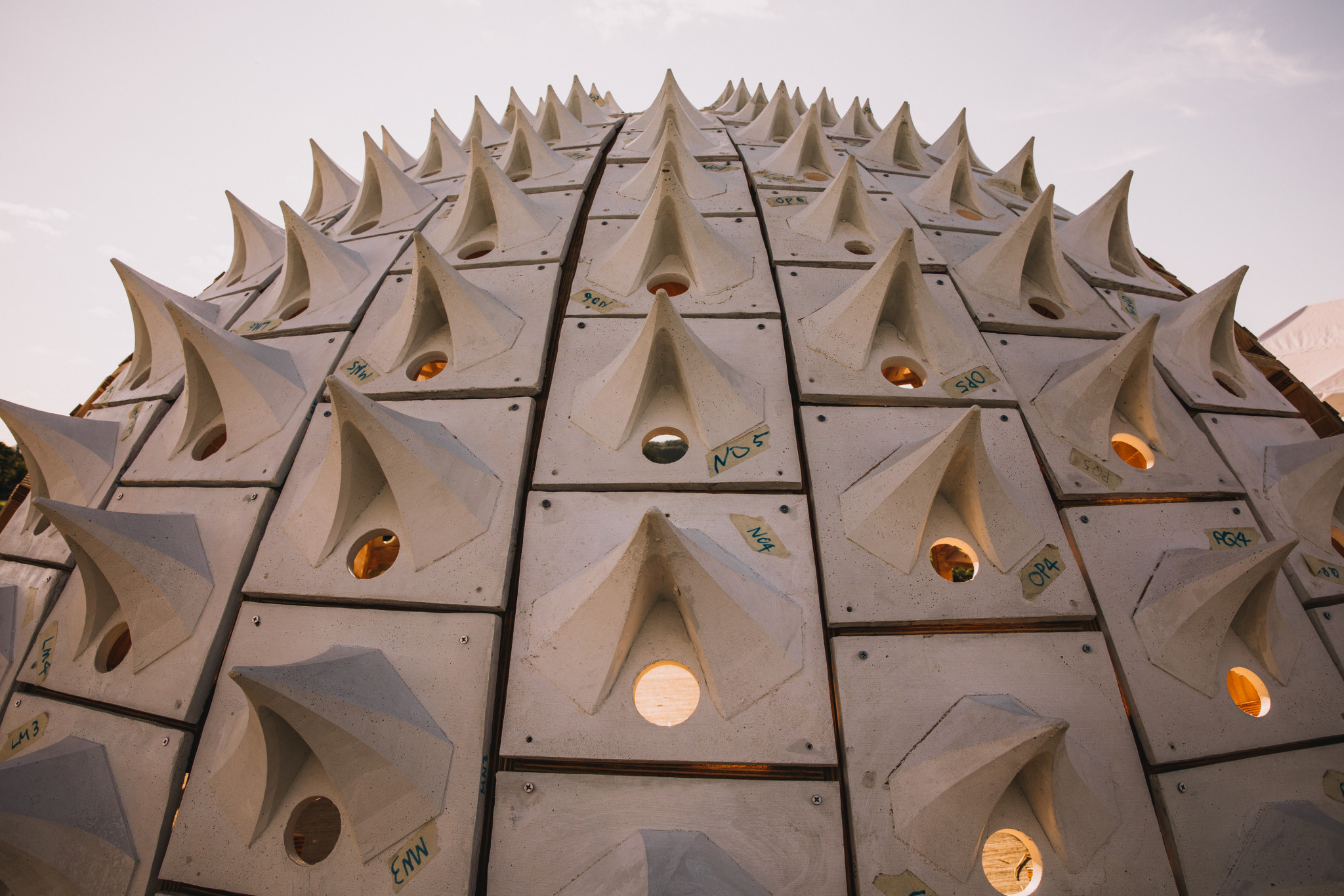 The spiked dome of the Pollinators Pavilion