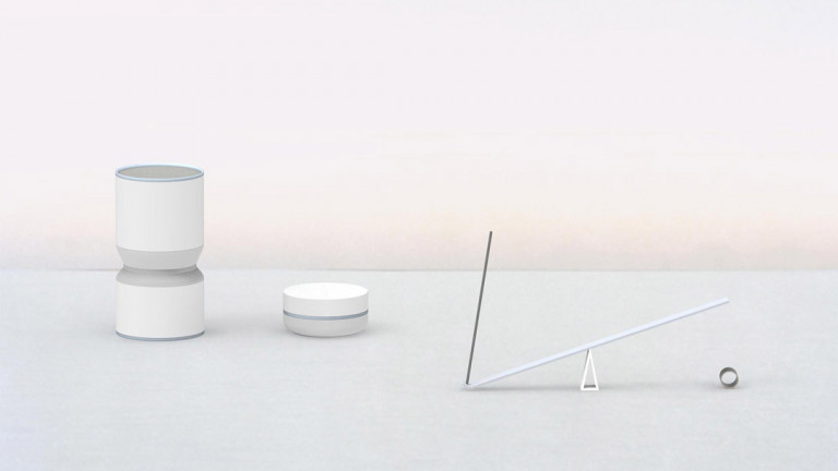 a detachable, portable hourglass speaker that plays music; a clock-like dish of timer mints that dissolve in the mouth over 5 minutes; and a 45-minute incense burner for a longer break experience