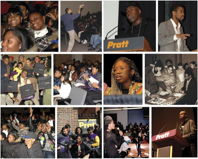 Picture Collage of Black Alumni of Pratt