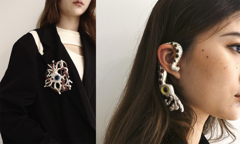 """Pieces from the """"Doomsday"""" collection by Cathy Zhang, BFA Jewelry '21"""