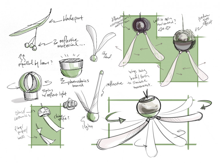 """""""The Wing Guard: An Insect Repelling Device for Temporary Food Services"""" by Ellen Zhengyi Ren, BID '21, with Professor of Industrial Design Ignacio Urbina Polo"""