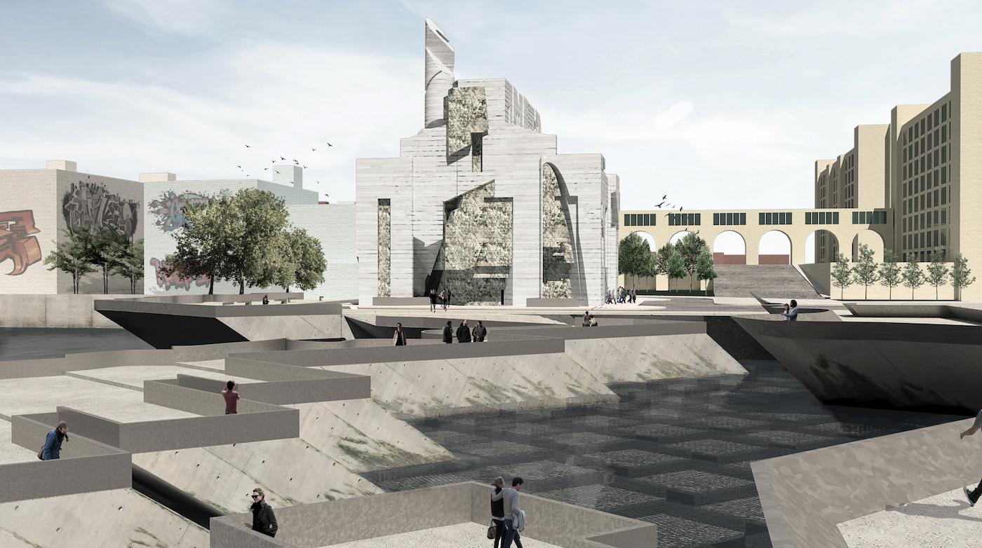Proposal by Ricardo Palacio, MArch '21, for the Brooklyn Army Terminal