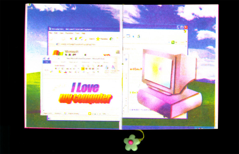 "Tia Socci, BFA Communications Design '21, ""Cyber Girlz"" (2020), risograph zine"