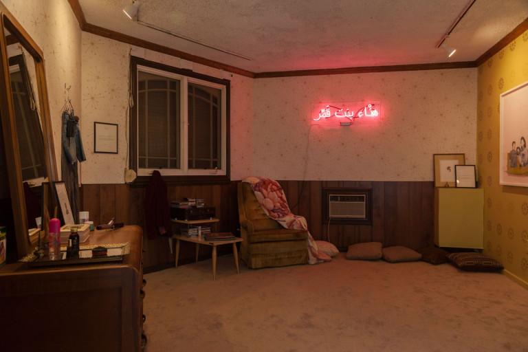 "Yasmine Nasser Diaz, ""Exit Strategies"" (2018), installation (photo by Stacie Jaye Meyer)"