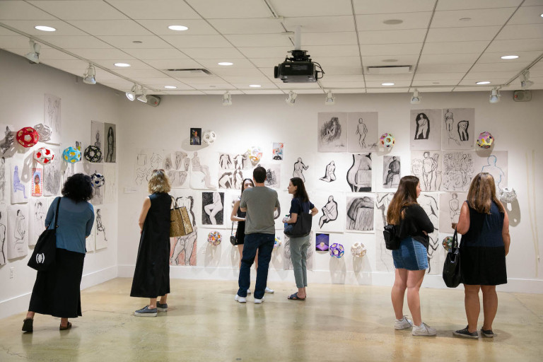 Installation view of the PreCollege exhibition (photo by Sam Stuart)