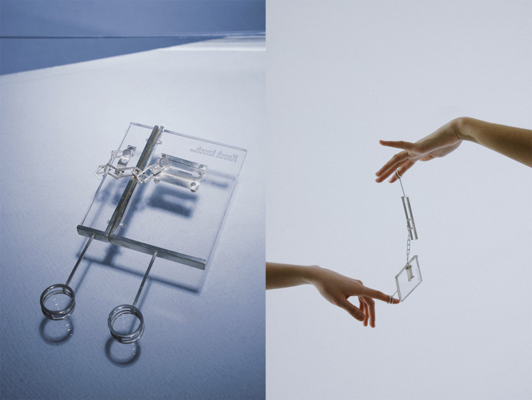 """Work by Xiaoqing Rong, BFA Fine Arts (Jewelry) '21, from the collection """"Rebuilding the Verification of Existence"""""""
