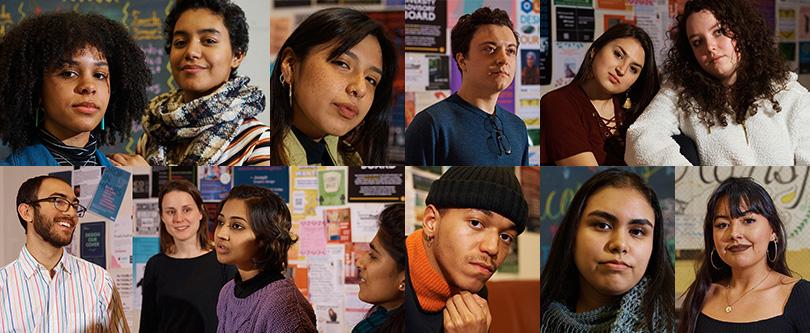 A grid of Pratt student portraits