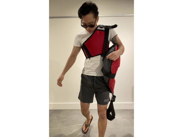 Lifeguard flotation device and harness by Andrew Lee, BID '21