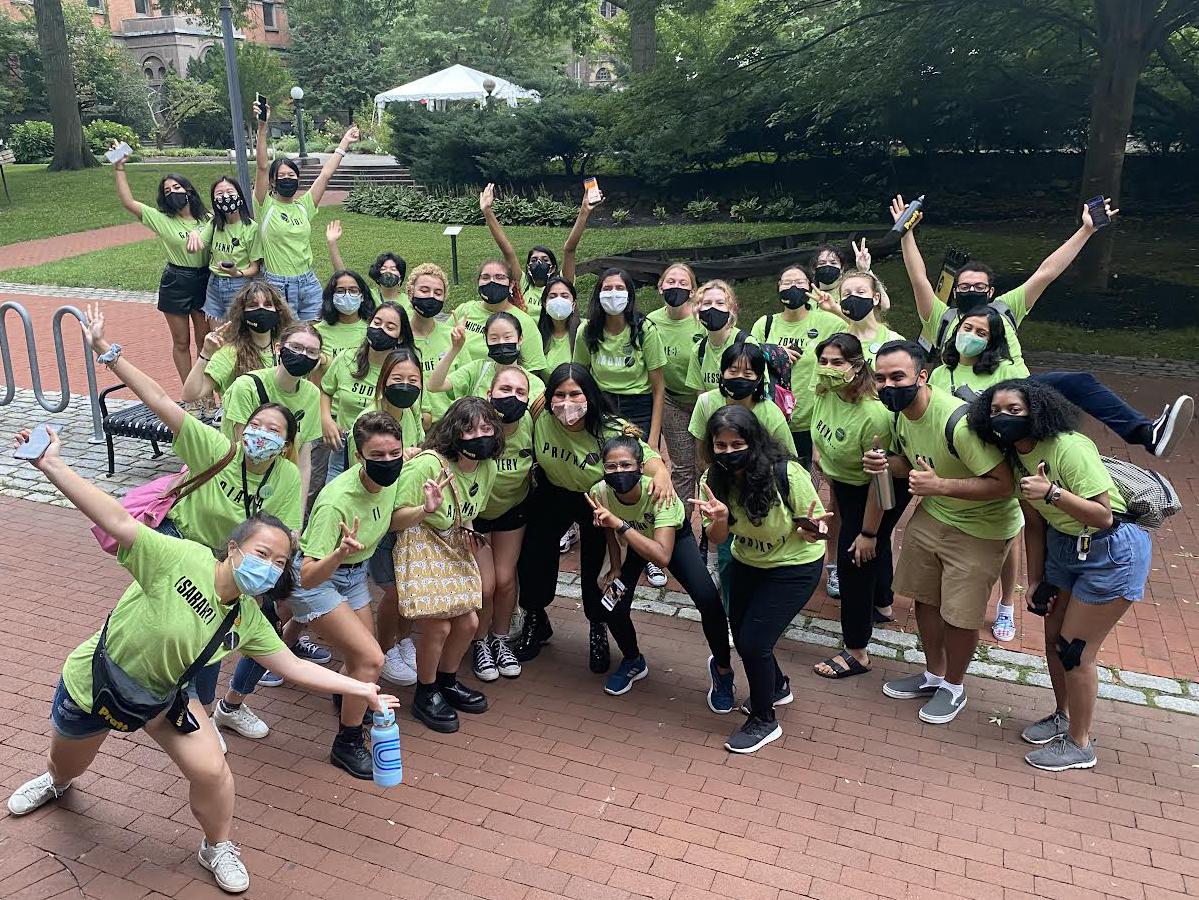 The 2021 Pratt Orientation Staff (courtesy Student Life)