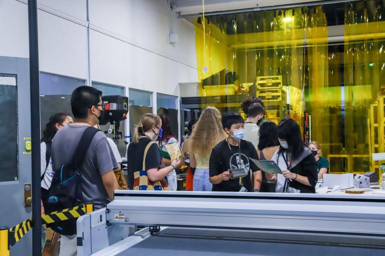Students exploring campus on Pratt Quest (photo by Caroline Cramer, BFA '22)