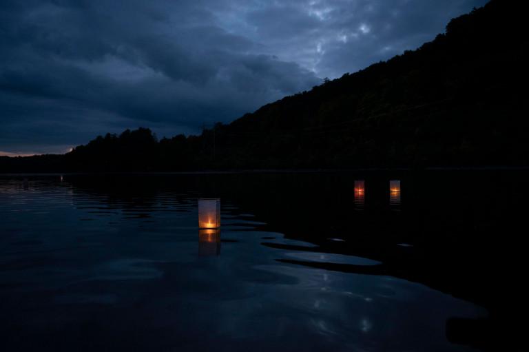 'Floating Grace' by Linda Lauro-Lazin, assistant chair of digital arts (photo by Jaykumar Patel)