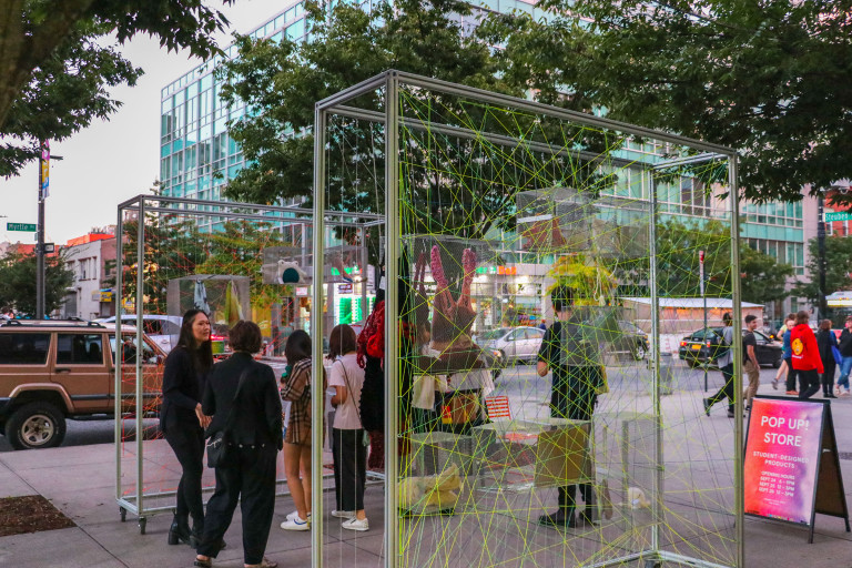 The Foundation Expanded pop-up shop by Hector Brignone, Chloe Chun, Aylin Kiriscioglu, and Shucheng Liu (photo by Deniz Gonel)